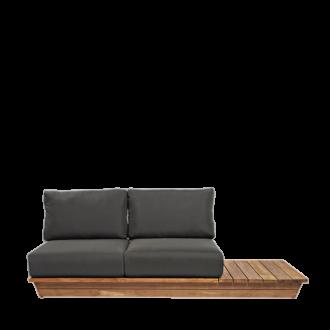 Canapé 2 places Lounge Grey 76 x 204 cm H 70 cm
