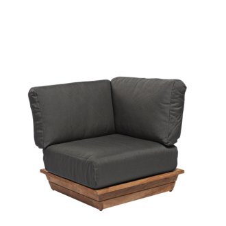 Module d'angle Lounge Grey 76 x 76 cm H 70 cm