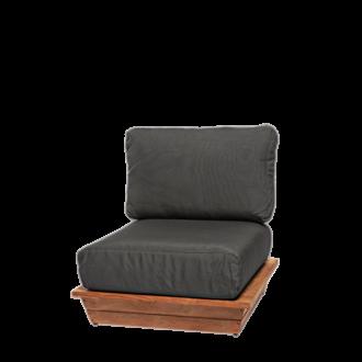 Fauteuil Lounge Grey 76 x 76 cm H 70 cm
