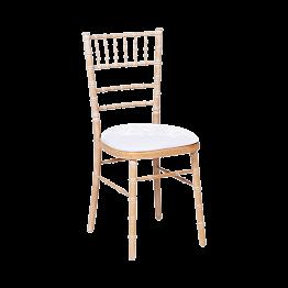 Chaise Natura avec galette velours blanche