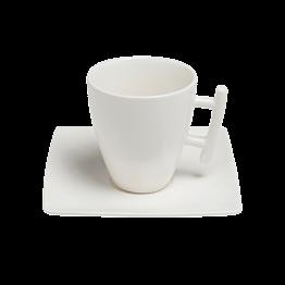Tasse et sous-tasse à café carrée 20cl Squito
