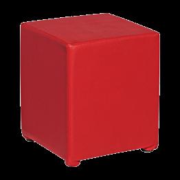 Pouf Kidman rouge 40 x 40 x H 48 cm
