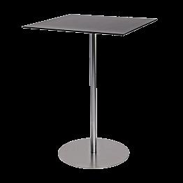 Table haute Brio noire 75 x 75 cm H 108 cm