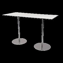 Table haute Brio blanche 180 x 75 cm H 108 cm