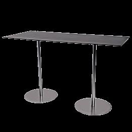 Table haute Brio noire 180 x 75 cm H 108 cm
