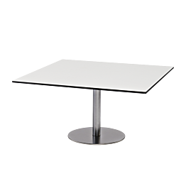 Table basse Brio blanche 75 x 75 cm H 40 cm