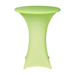 Table mange-debout  houssée stretch vert pomme