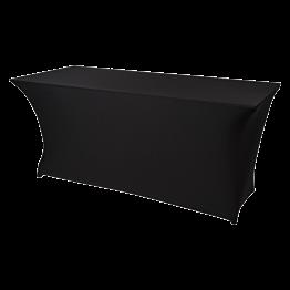 Table buffet 200x90xH90cm houssée noire