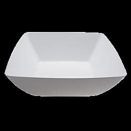 Saladier carré blanc en mélamine 41 x 41 cm H 15 cm