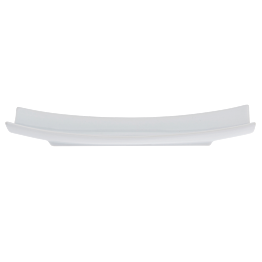Assiette rectangulaire courbée 27 x 7 cm