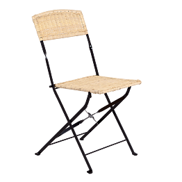 Chaise en fer forgé & osier (sans patin)