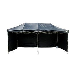 Côté de tente noir par 3m