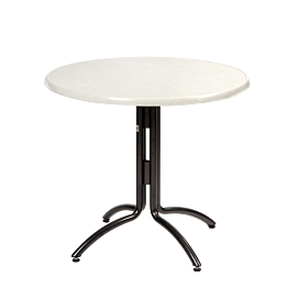 Table ronde Ø 85 cm H 75 cm - 2 à 4 places