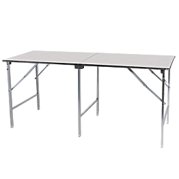 Table pliante en inox 200 x 80 cm H 90 cm