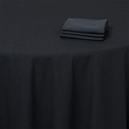 Serviette noire 50 x 50 cm