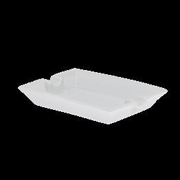 Cendrier blanc 11,5x8,5cm