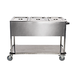 Chariot bain-marie 3 GN1/1 220 V - 2500 W