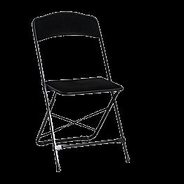 Chaise pliante noire - velours noir