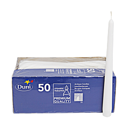 Bougies Duni blanches (50p)