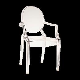 Chaise Louis Ghost transparente