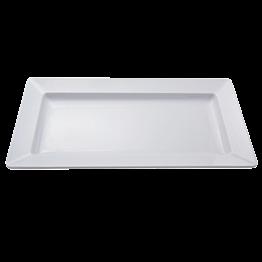 Plat blanc en mélamine 50 x 27 cm