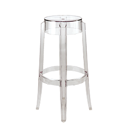 Tabouret Charles Ghost transparent H 75 cm by Ph Starck - Kartell