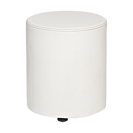 Pouf Monroe blanc Ø 40 cm H 48 cm