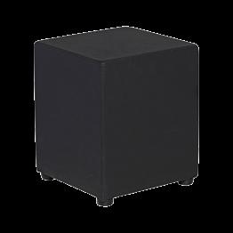 Pouf Kidman noir 40 x 40 x H 48 cm
