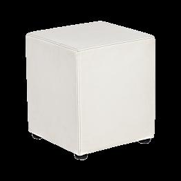 Pouf Kidman blanc 40 x 40 x H 48 cm