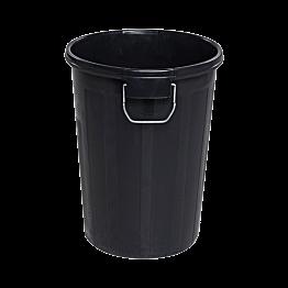 Poubelle en plastique noir 110 L