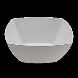 Saladier carré blanc en mélamine 27 x 27 cm H 13 cm