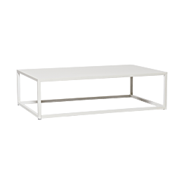 Table basse Linea blanche 97 x 60 x H 27 cm