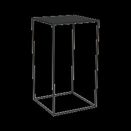 Table haute Quadra noire 60x60xH108cm