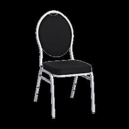 Chaise Hôtel noire bâti argent