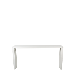 Table Titan blanche en alu 230 x 45 x H 110 cm