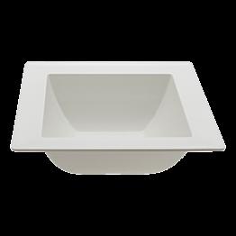 Saladier carré blanc en mélamine 18x18cm