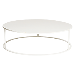 Table basse Luna blanche Ø 90 cm H 27 cm