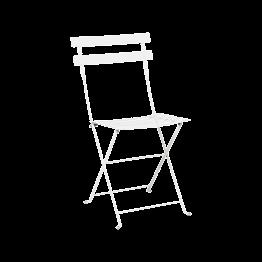 Chaise Simplex blanche à lattis