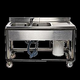 Evier double avec boiler 10 L 220 V