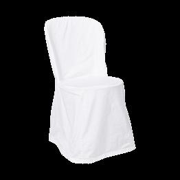Chaise houssée blanche