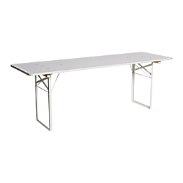 Table en pin blanche 220 x 70 cm