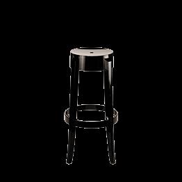 Tabouret Cristal noir H 75 cm
