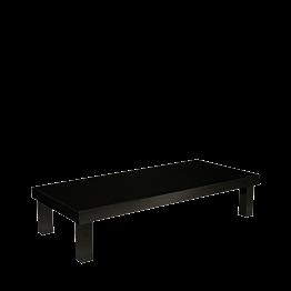 Tisch schwarz lackiert, 90 x 200 cm, H 45 cm