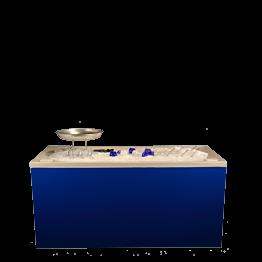 Buffet pliant banc à huîtres 100 x 200 cm ; Délai 48 H