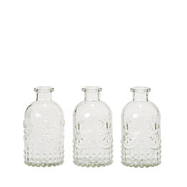Lot de 3 vases Armoiries H 12 cm