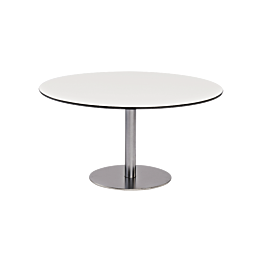 Table basse Brio blanche Ø 75 cm H 40 cm