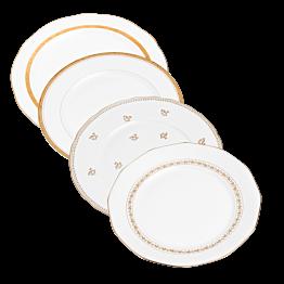 Petite assiette Vintage blanche et dorée