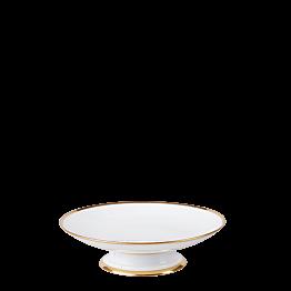 Compotier bas vintage blanc et doré