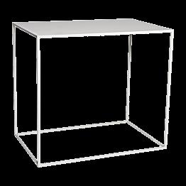 Table haute Quadra blanche  120x80xH108cm démontable
