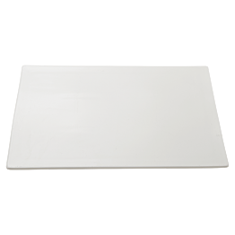 Assiette rectangle sans bord 33 x 22 cm
